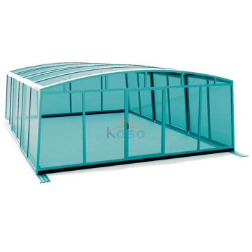 Schaumgummierter Inground Sliding Enclosure Swimming Pool Cover