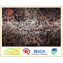 Impressão de leopardo de cetim de poli (ZCGP088)