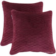 New design embossed solid Holland velvet cushion cover for home decor