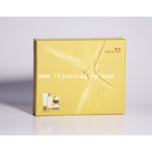 Rigid Two Piece Cosmetic Packaging Paper Box with Mylar and Shoulder