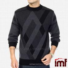 Novo Moda Knit Pullover Men Cashmere Suéter