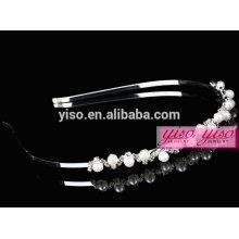 Joyería del pelo de la manera de la perla del cristal y de la perla de la mejor venta