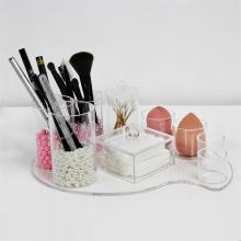 Akrilik Cotton Swab holder Makeup Sponge Storage