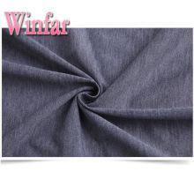 Tissu jersey simple en tricot de polyester mélangé Spandex