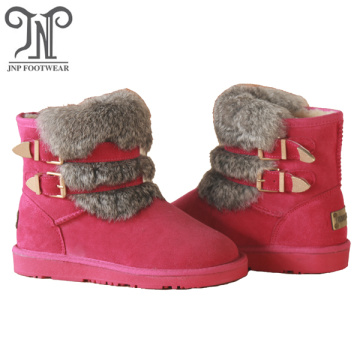 Professional for Womens Leather Winter Boots Winter women leather suede ankle flat fur boots supply to El Salvador Importers
