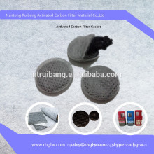 Manufacturing filter media carbon filter for drinking water bottles