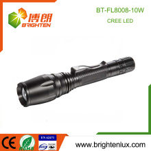 Factory Supply 3.7v High Power Zoom Hunting Aluminum Material 2*18650 cell 10w Cree xml-2 t6 led Rechargeable flashlight 800lm
