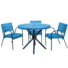 Carbon Steel Dining Table Garden Table with Chairs