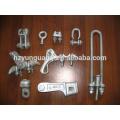 Línea eléctrica eléctrica del clip de alambre de poder de la abrazadera de la tensión de la abrazadera de la aleación de aluminio
