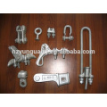Customized Suspension power cable clamp electric line fitting pole line hardware electric transmission line fitting