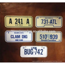 Geprägte Reflektieren Auto Nummernschild Dekorative Metall Auto Plate