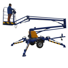 14m Battery or diesel power hydraulic towable boom lift