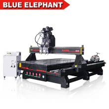 3d rotatorio Cnc Router 2 Spindles Multi uso Wooden Furniture Leg Cilindro Objetos Carpintería CNC Router para la venta