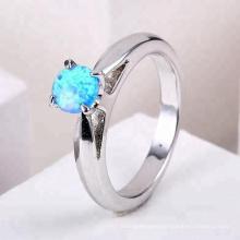 2018 nueva joyería de moda anillos anillo de ópalo