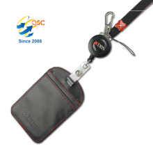 Custom Black Logo Printed Single Thick Team Lanyard For Sale