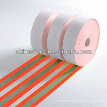 100% aramid orange-silver-orange flame retardant reflective tape
