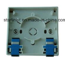 Plaque de façade à 1 port compatible pour Sc LC FC St