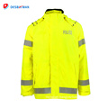 New design hot sale fashionable high visibility fluorescent safety rainsuit