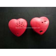 Enregistreur vocal en forme de coeur, collier enregistrable avec coeur
