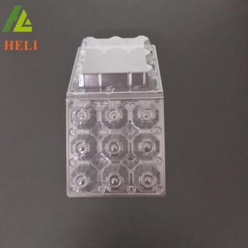 9 Holes M size Clear transparent plastic egg holder packing for regrigerator