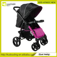 2015 New Baby Stroller China Manufacturer Lightweight Reversible Seat Direction Removable Armrest Footrest Swivel Wheels