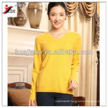 flat knitting women's 100% pure cashmere winter sweater