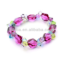 Горячие продажи природных многоцветный австрийских кристаллов бисером браслеты