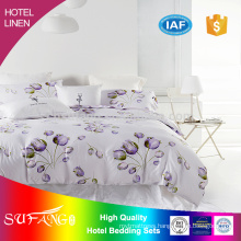 2017 summer hotel bedding /500TC 100% cotton pure solid color hotel bedding