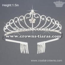 Crystal Rhinestone Pageant Tiaras In Heart Shaped