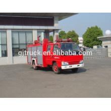 Jiangling 4 * 2 unidad de tanque de agua camión de bomberos