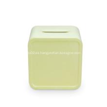 Organizador de escritorio de plástico Caja de pañuelos Servilletero