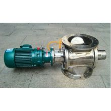 Steel impeller feed valve