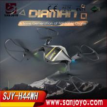 Mais recente Chegada JJRC H44WH DIAMAN Dobrável Pocket Zangão Selfie 720 P Câmera Wi-fi FPV Quadcopter SJY-H44WH