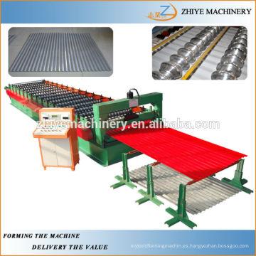 Productos de promoción de rollo de chapa ondulada de acero que forma la máquina