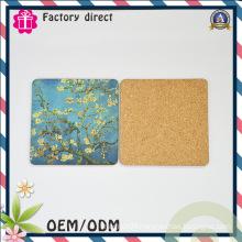 Square Type Picture Cork Coaster