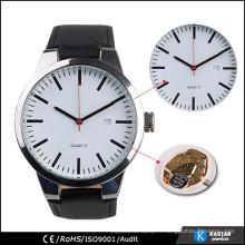 Smart watch montre japonais quartz quartz arrière en acier inoxydable