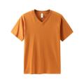 T-shirts en coton unisexe à col VEE pour femmes