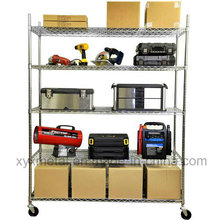 Chrome Metal Movable Wire Shelving