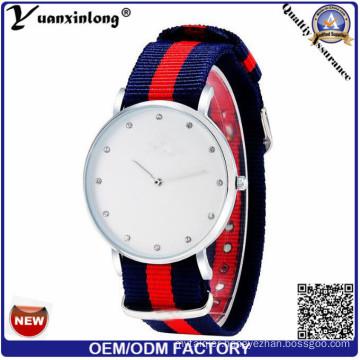 Yxl-257 Fashion Nylon Fabric Geneva Watch Casual Women Wristwatch Quartz Watch Hot Selling Diamond Stripe Sport Mens Watches