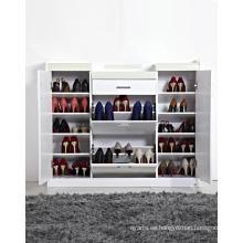 Gabinete de estante de calzado lacado de alto brillo
