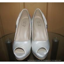 Nuevo vestido de boda del tacón alto del dedo del pie del tacón alto de las señoras del diseño (HCY02-1639)
