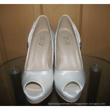 Nouvelle conception dames à talons hauts peep toe robe de mariée Stiletto (HCY02-1639)