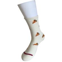 Half Cushion Cotton Fashion Logo Sport Pizza Socks (JMCC04)
