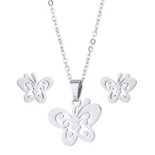 New Designer Butterfly Pendant Elegant Necklace and Earring Jewelry Display Set