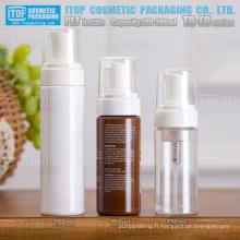 TB-FD série 120ml 150ml 200ml hot-vente populaire de bronzage mousse cheveux mousse bonne qualité autour de bouteille pet de pompe moussant