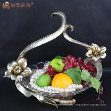 European flower basket resin fruit bowl for home decoration