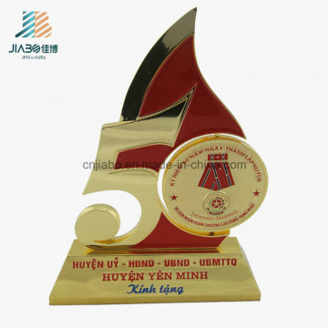 Wholesale Factory Enamel Casting Veitnam Print Metal Trophy for Souvenir