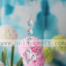Quality Guaranteed 33*41MM Heart Shape Pendant And 14MM Octagon Beads Chandelier Plastic Shade