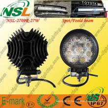 Lampe de travail à LED 27W, lampe à LED Epstar 9PCS * 3W, lampe de travail à LED 2295lm pour camions