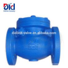 Válvula de retención del metal del proveedor de la válvula de retención oscilante del dinar del arrabio del dinar doble del emparedado del agua